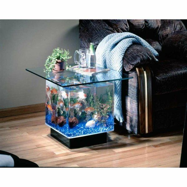 La Decoration Avec Un Meuble Aquarium Archzine Fr Meuble Aquarium Aquariums Super Idee Deco Miroir