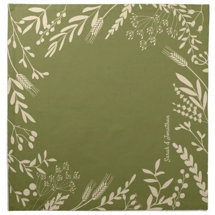Guacamole & Vanilla Quirky Floral Cloth Napkin | Zazzle.com #clothnapkins
