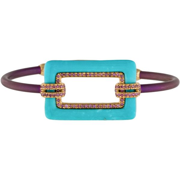 Chantecler Contemporary Turquoise and Diamond Bracelet w  Tags ( 1,975) ❤  liked on Polyvore d0692040e2