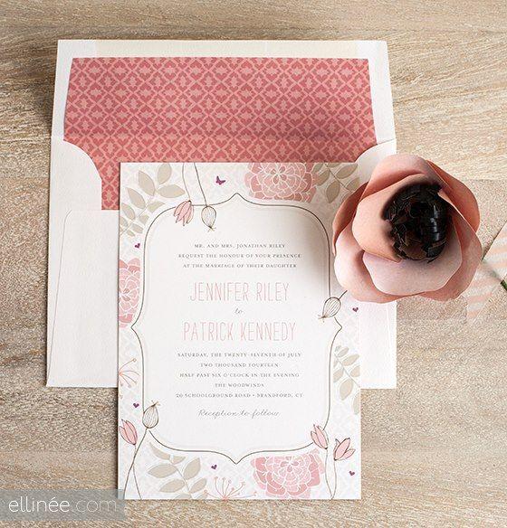 Cute Ellinee invitation design