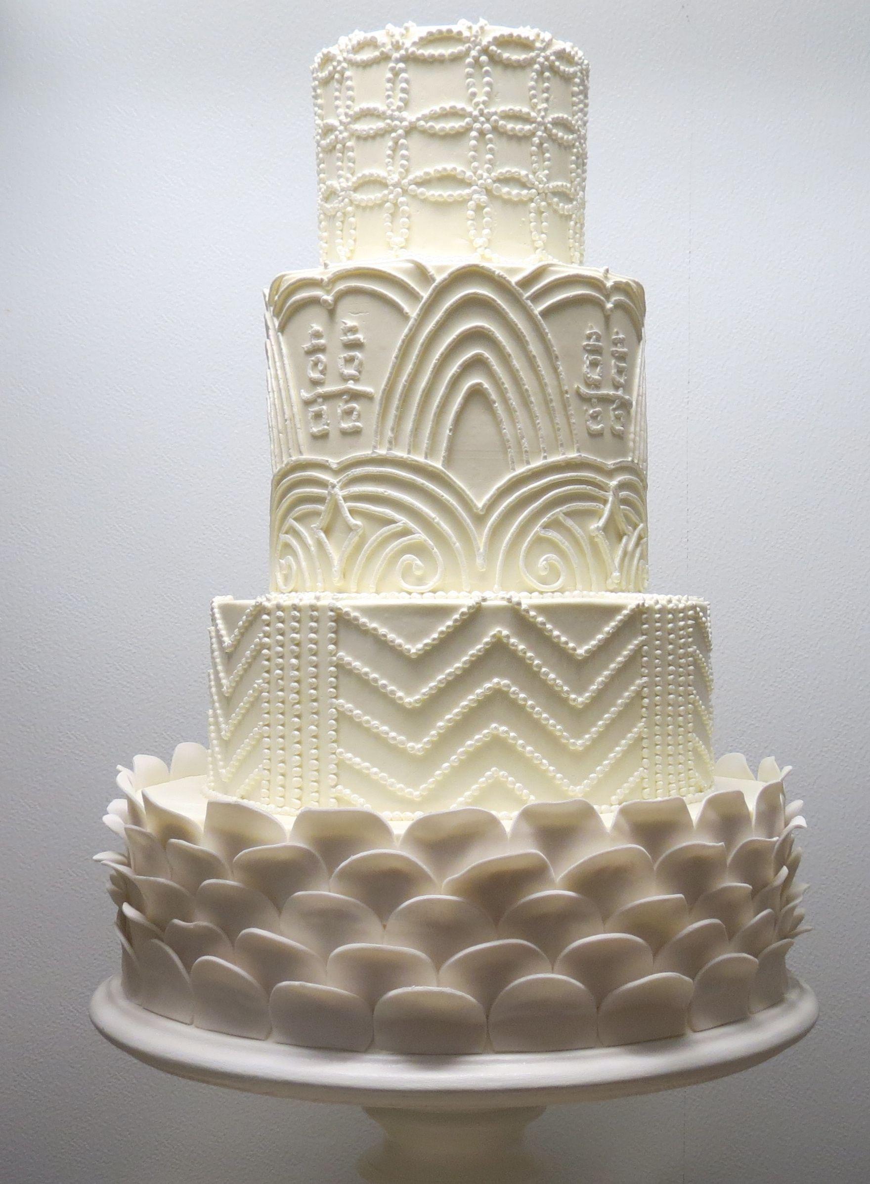 White art deco cake