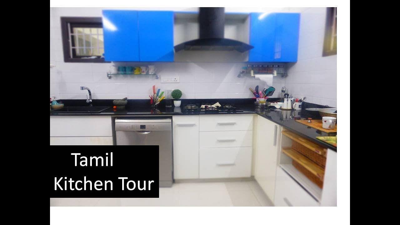Tamil] MY Kitchen Tour [ Cabinet shelf Drawer tour ...