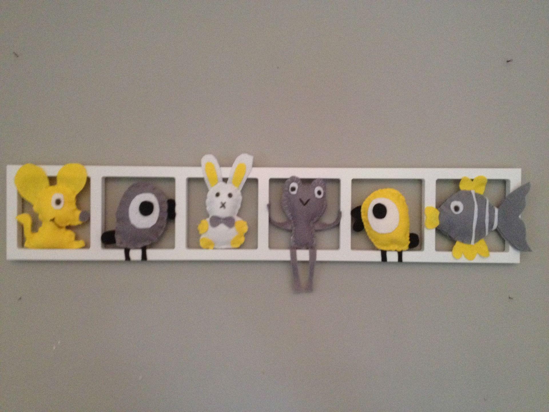 Décoration gris jaune chambre chambre bebe / cadeau de naissance ...