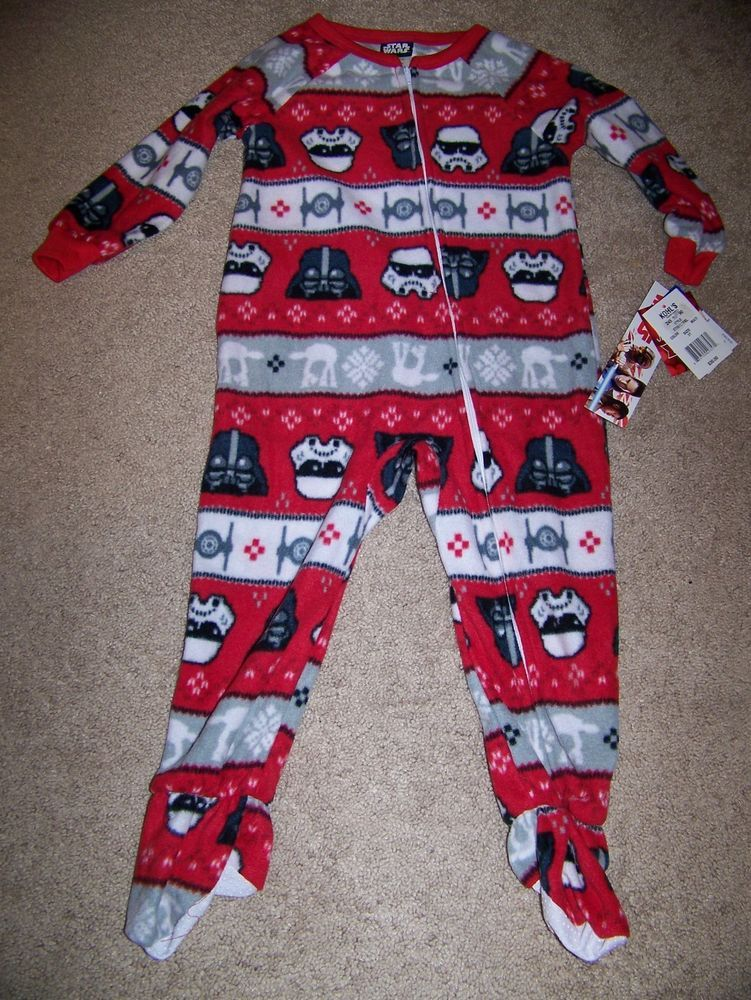 b33a90d83d Boys 3T Disney Star Wars Soft Fleece Full Zipper Footed Sleeper NWT   fashion  clothing