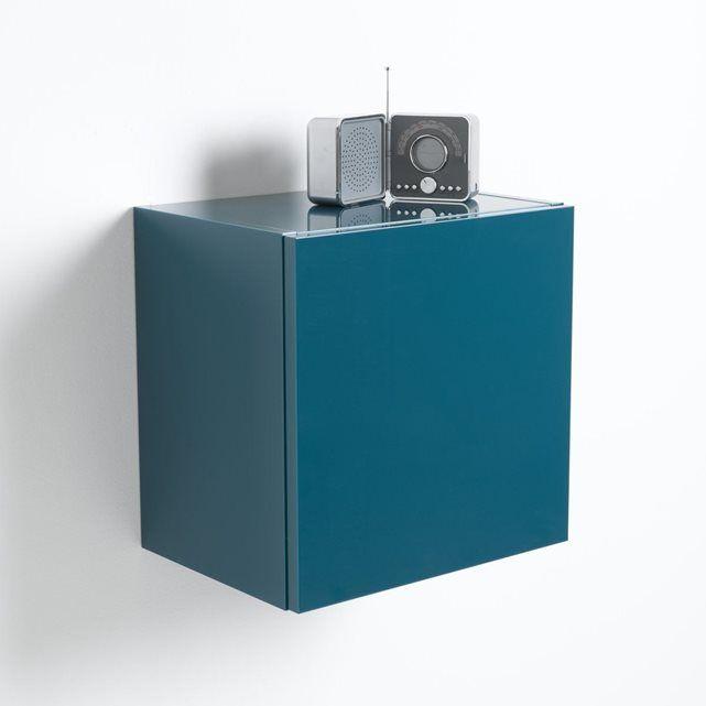 table de chevet cube de rangement mural laqu design newark la redoute interieurs la redoute. Black Bedroom Furniture Sets. Home Design Ideas