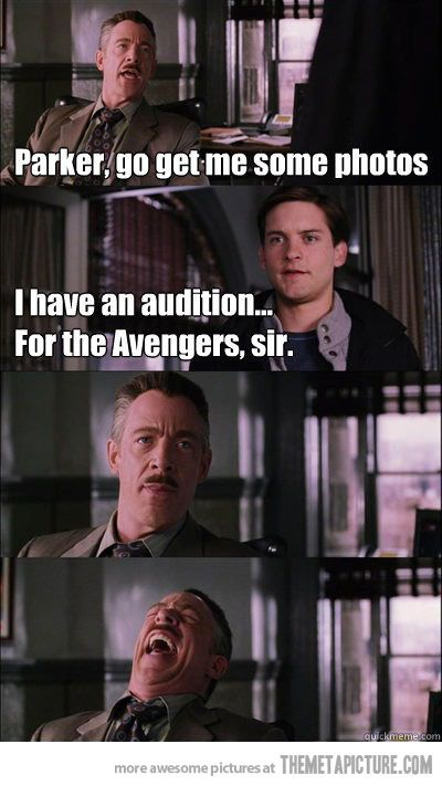 i don�t think so parker� marvel and dc funny pictures