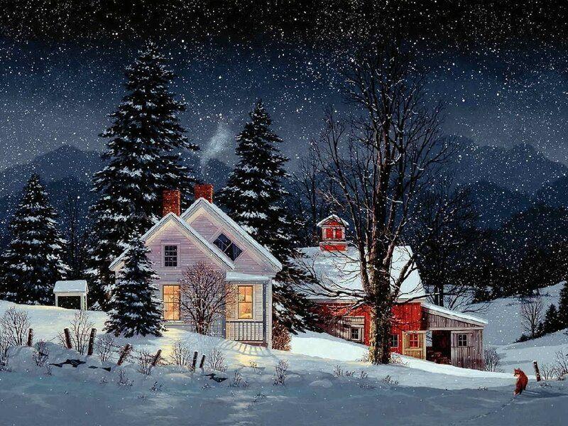 Твой маленький уютный домик... Художник Fred Swan. Swans