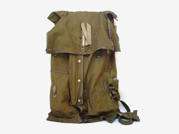 25ee4e75bf Vintage Military Parachute Backpack Special - PETARSVINTAGE