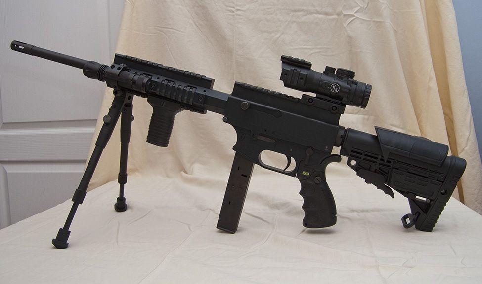 Thureon Defense 9mm Carbine  Takes 33 round Glock magazines