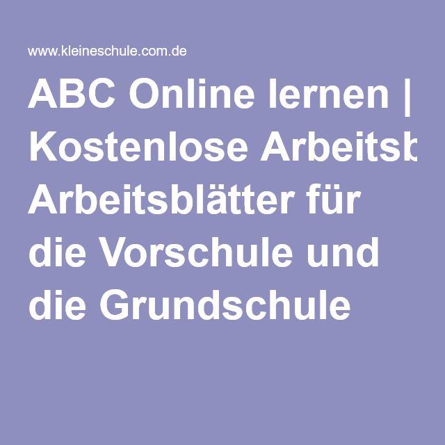 ABC Online lernen | Kostenlose Arbeitsblätter für die Vorschule und ...