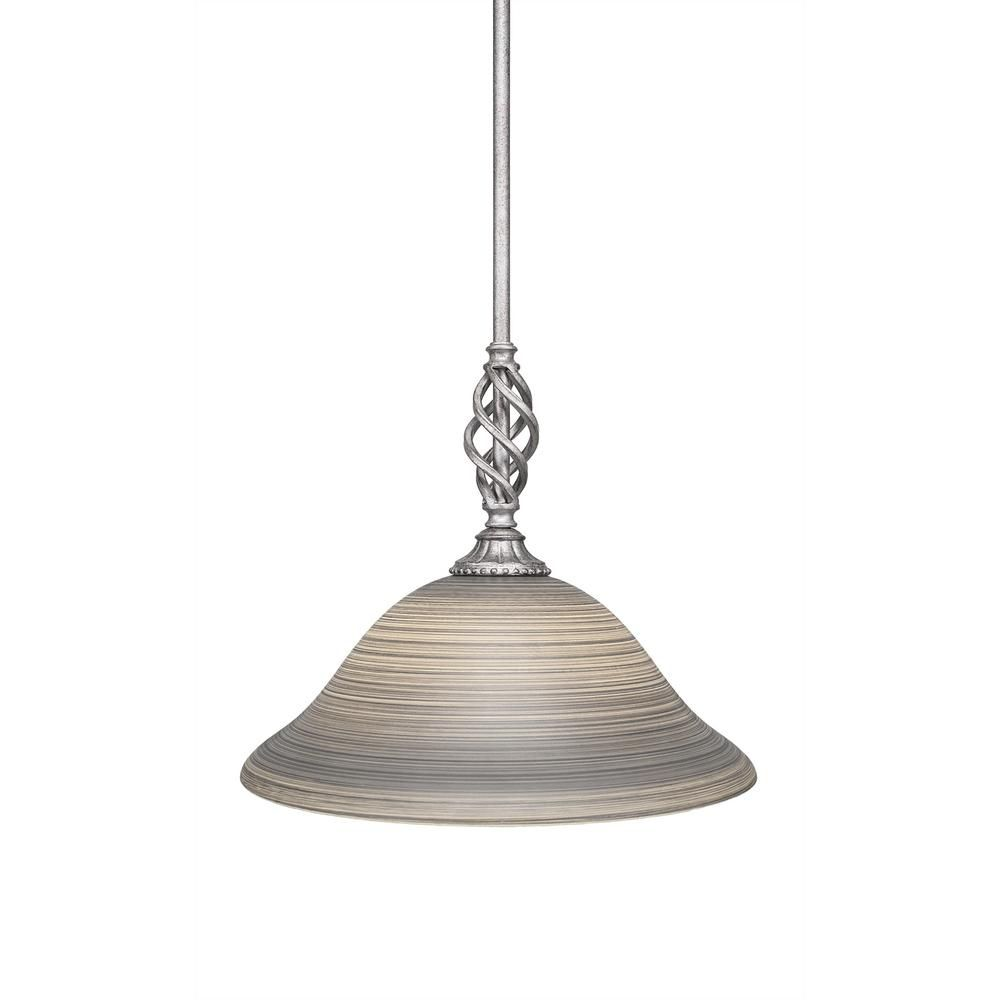 Cambridge 1-Light Aged Silver Pendant