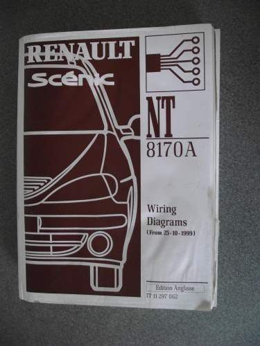 renault scenic wiring diagrams manual 1999 nt8170a 7711297062 listing in  the renault,car manuals & literature,cars & trucks parts & accessories,cars