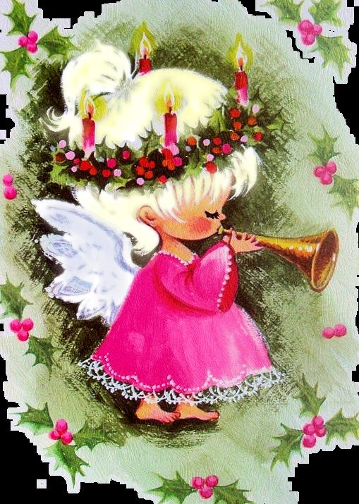 Angel Playing Christmas Flute Trumpet Ange Jouant De La Trompette