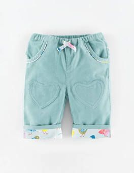 Heart Patch Pants