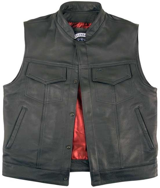 Legendary Reaper Leather Motorcycle Vest Is Inspired By Sons Of Anarchy Samcro Motorcycle Vest Clothes Custom Leather Jackets