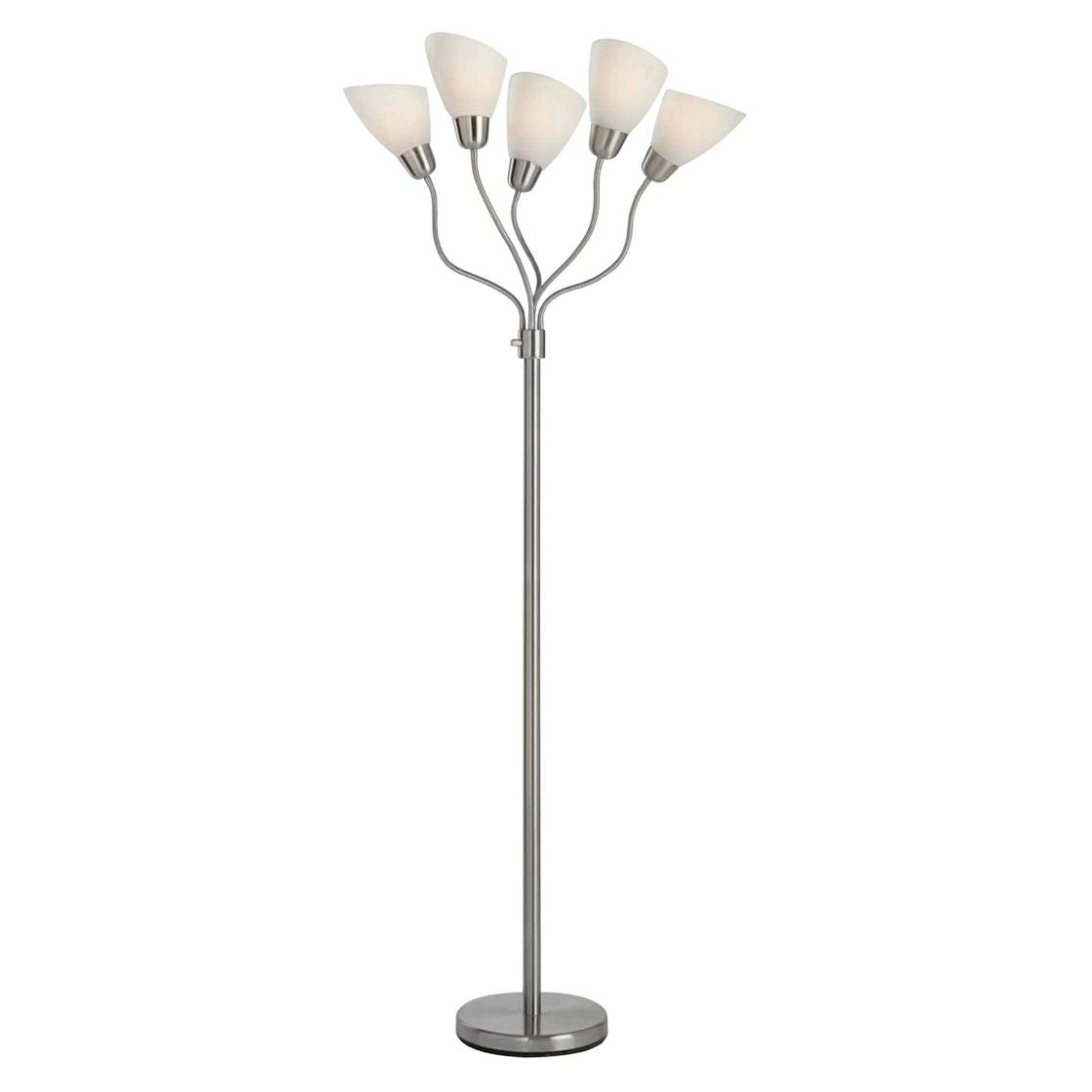 Awesome Room Essentials  5 Head Floor Lamp   White