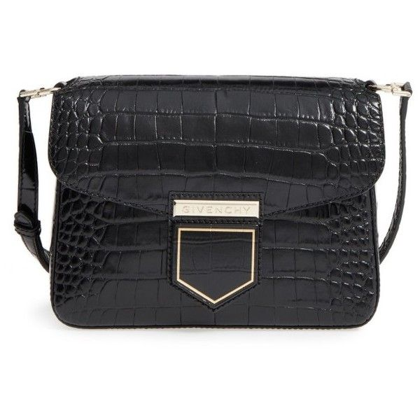 Shoulder bags · Women s Givenchy Small Nobile Croc Embossed Leather  Crossbody Bag ... b13d26ce645eb