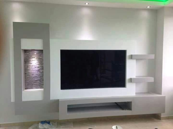 Gostei Tv Wall Design Wall Tv Unit Design Living Room Tv Unit Designs #tv #cabinet #design #living #room