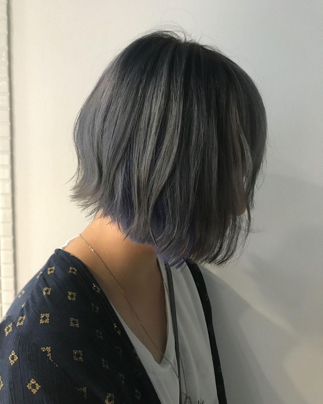 美容室studioa スタイリスト坂井翔さんはinstagramを利用しています ハイインナーカラー グレー ブルー ヘアカラー マニパニ ナシード ブリーチ 切りっぱなしボブ スタイリスト 美容 ヘアカラー