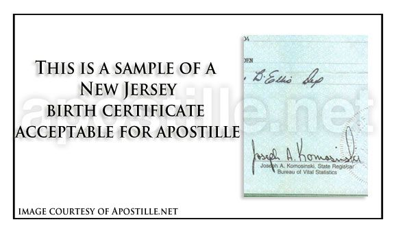 New Jersey birth certificate for apostille State of New Jersey - new secretary certificate sample