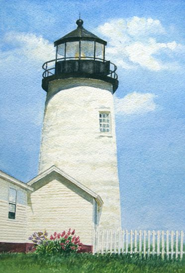 Pemaquid Light Tower Bristol Maine Lighthouse Painting In 2020