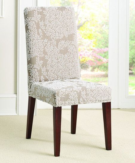 Sure Fit Antique Beigecream Stretch Forest Knit Dining Chair Brilliant Stretch Covers For Dining Room Chairs Design Inspiration