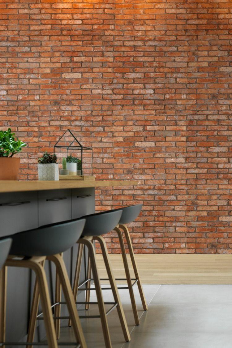 Plaquette De Parement A Coller d'authentiques briques de parement anciennes, démontées de