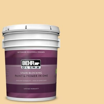 Behr Ultra 5 Gal 340c 3 Pismo Dunes Eggshell Enamel Interior Paint And Primer In One Interior Paint Behr Egg Shells