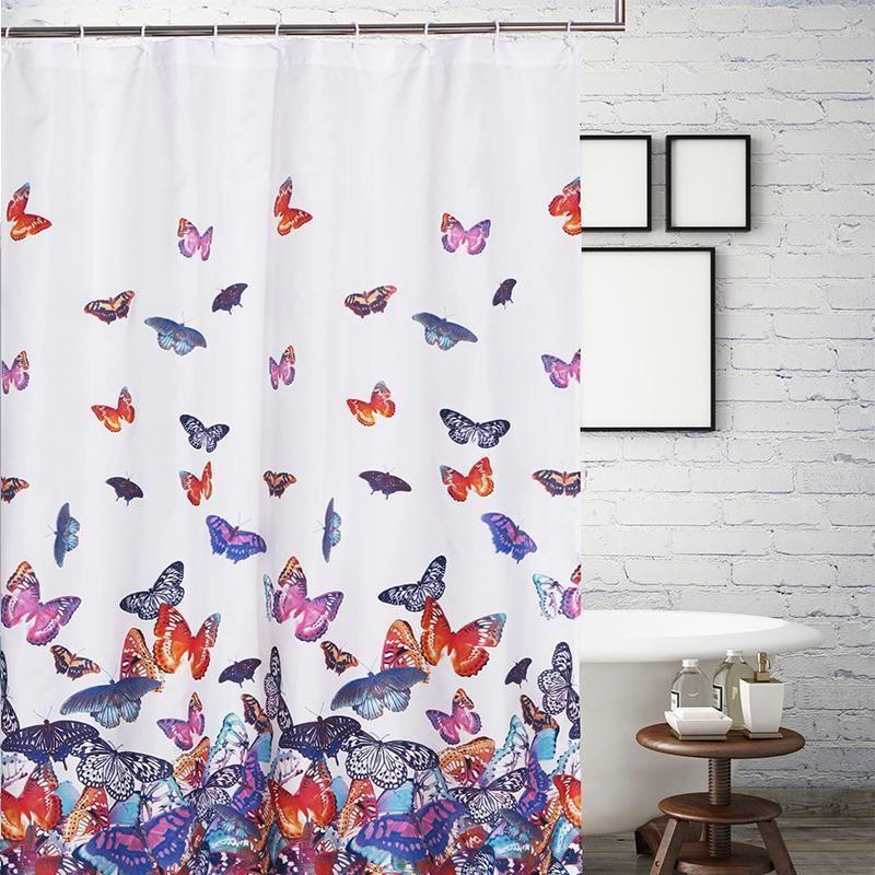 Greenland Home Fashions Mariposa Bath Shower Curtain Curtains