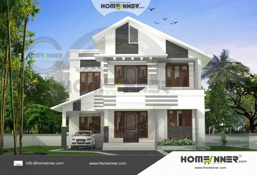 Sq ft two story indian latest home design also designs rh pinterest