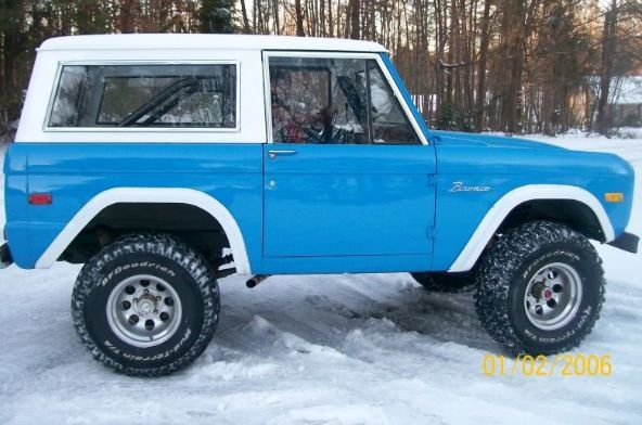 Blue Jeep Bronco