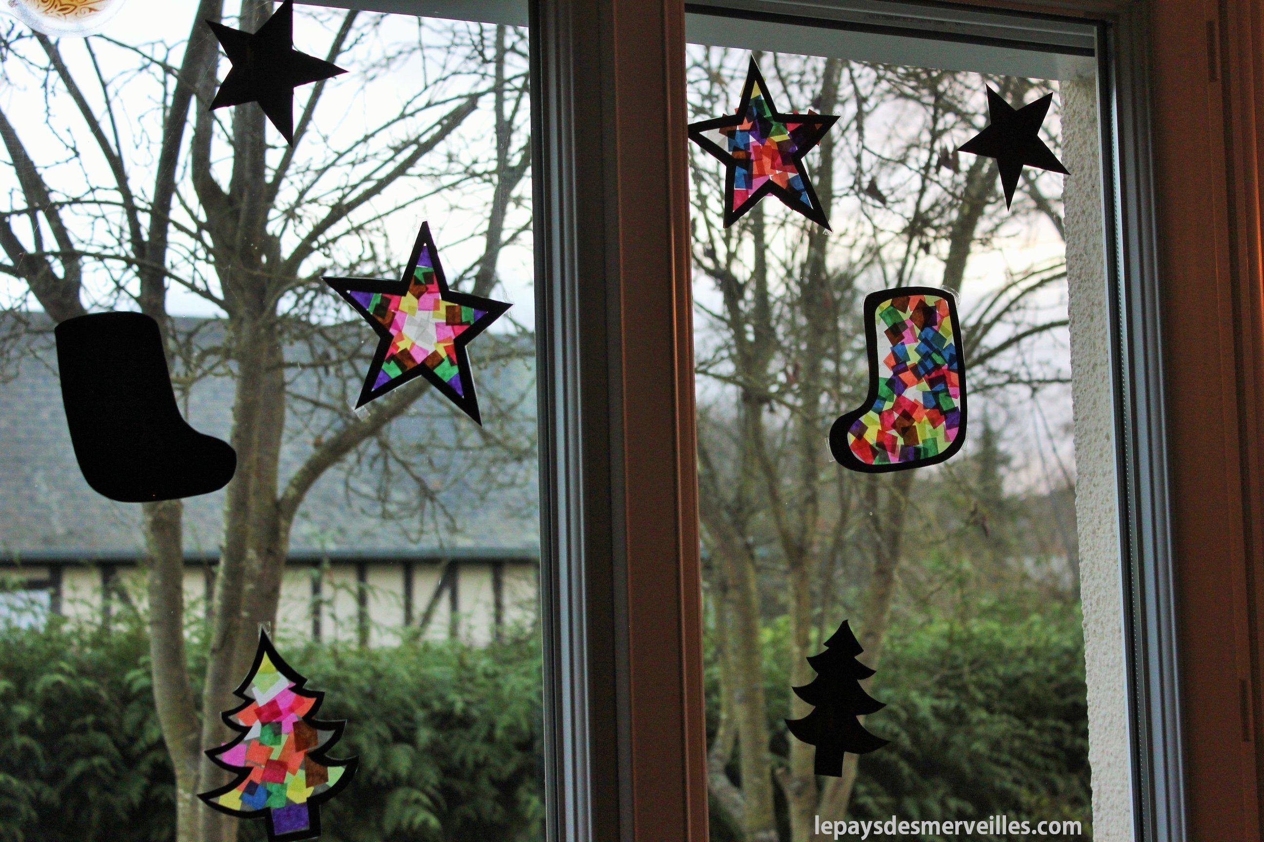 Décorer les fenêtres avec des vitraux (Noël) #calendrierdel#39;aventcouture