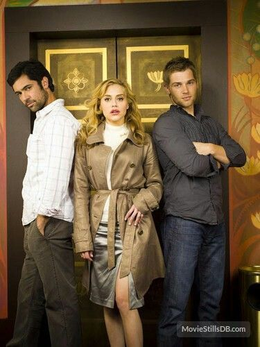 """Danny, Mike Vogel and Brittany Murphy in """" Across the Hall """""""