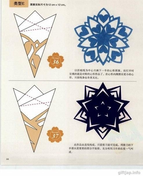 Verschiedene Schneeflocken basteln - Schablonen und Mustern-dekoking-com-1