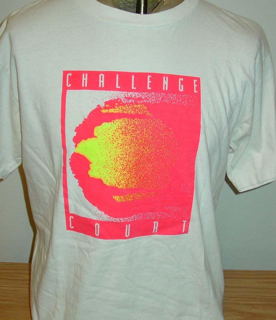 Vintage 1990s Nike Challenge Court Tennis T Shirt Medium By Vintagerhino247 On Etsy Tennis Tshirts Print Inspiration Tshirt Designs