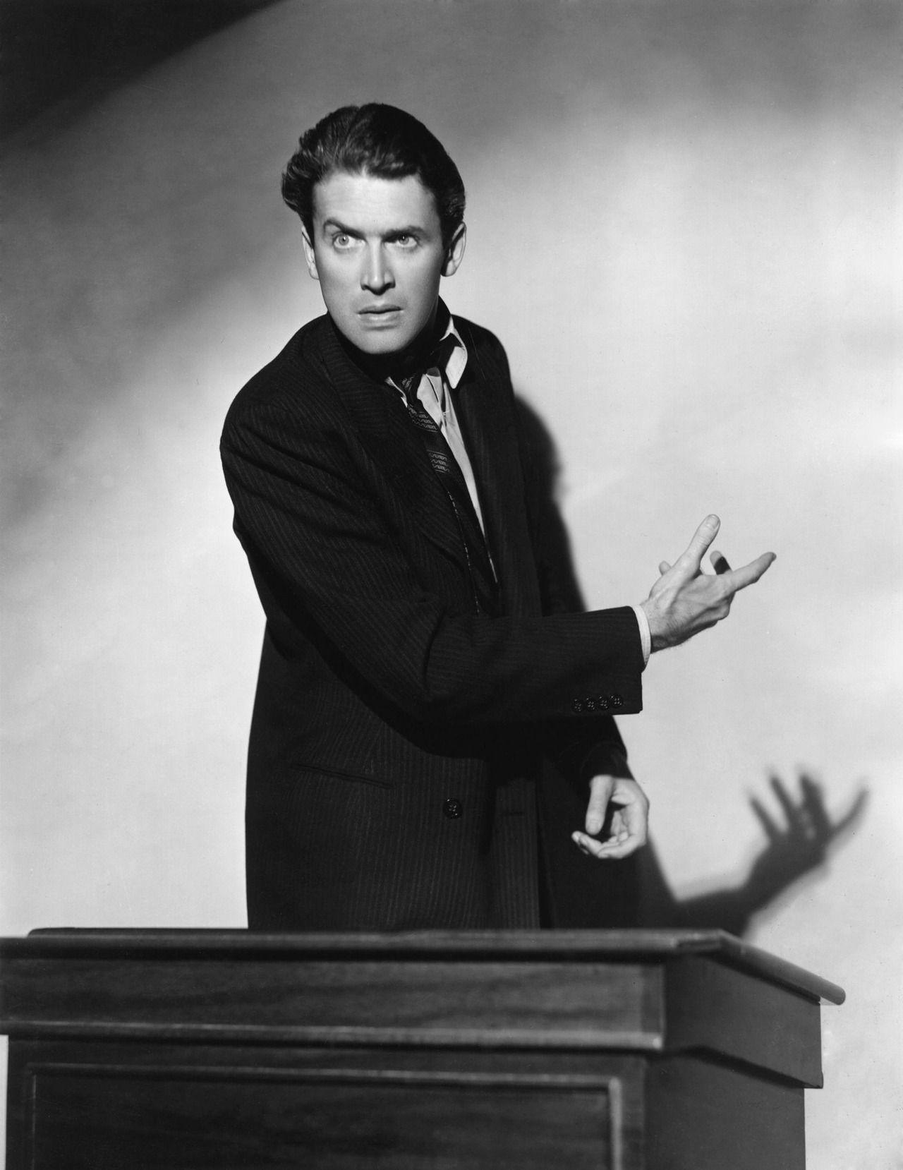 """James Stewart en """"Caballero sin espada"""", 1939"""