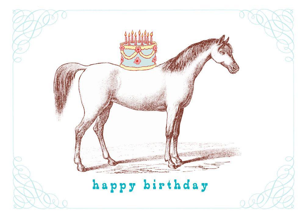 Доброе, открытки с лошадью на день рождения