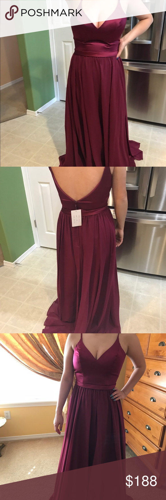 Wine red prom dress prom dress prom and comfy