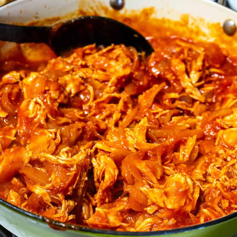 Authentic Mexican Chicken Tinga- Tinga De Pollo