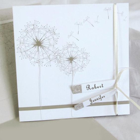 romantic dandelion white wedding invitations ewri006 as low as 1 69
