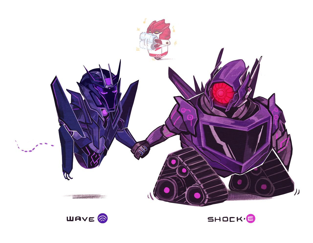 "soursoppi: "" Here's a Wall-E!AU? Shockwave's tank form is"
