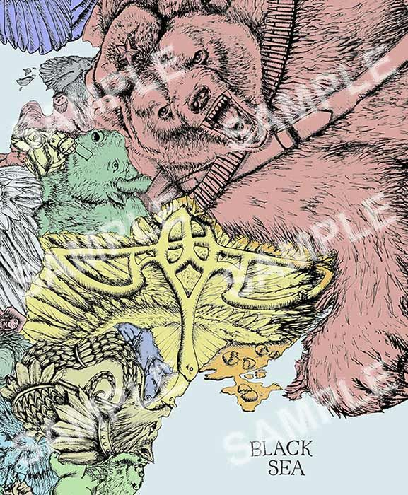Eastern Europe Russia Kaliningrad Belarus Lavia Estonia - Buy map posters