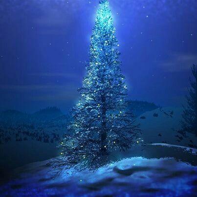 Underwater Christmas Christmas Tree Wallpaper Blue Christmas Tree Blue Christmas