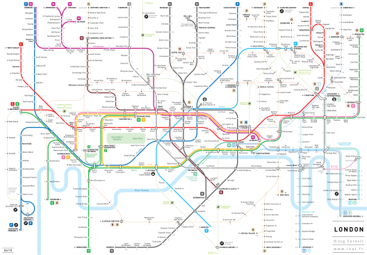 Easier to understand London Underground Tube map London