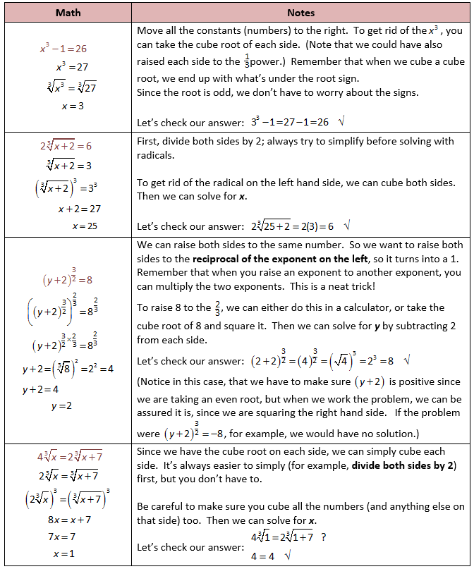 Solving Exponential Equations With Odd Exponents Matematik