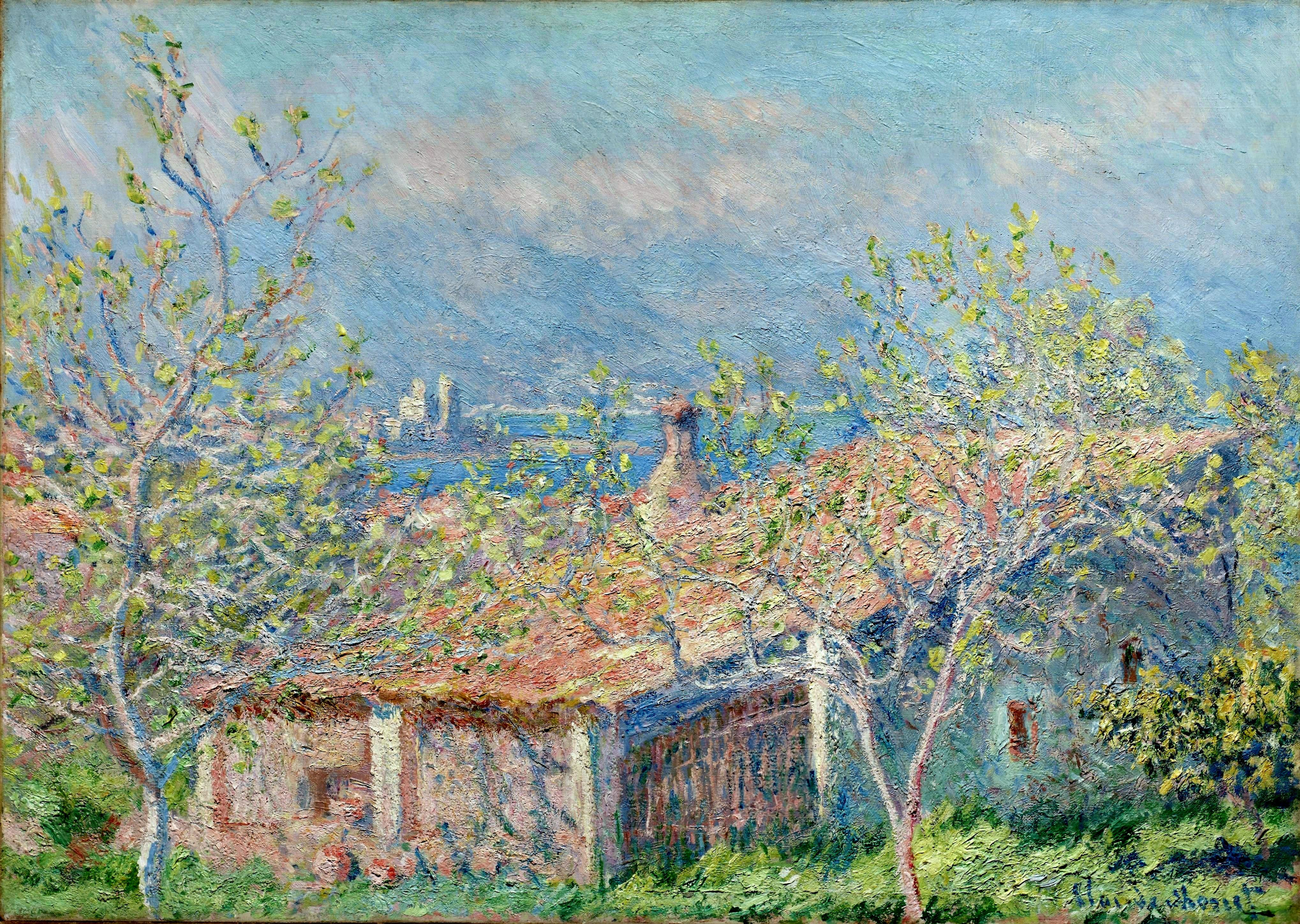 Claude Monet Cuadros Claude Monet Gardener 39s House At Antibes 1888 Claude
