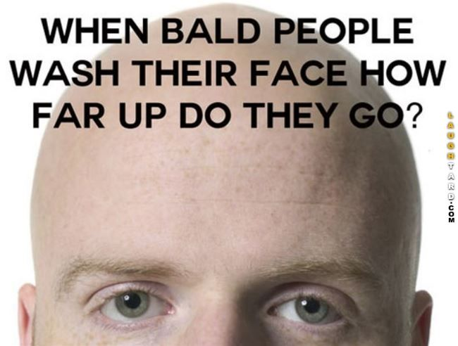 Bald People Wash Their Face Funny Pictures Pinterest Funny
