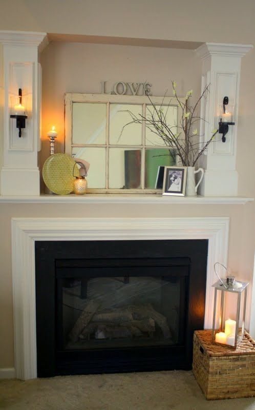 Fireplace Makeover What To Do With That Giant Hole For The Tv Dining Room Accents Apartment Dining Room Apartment Dining