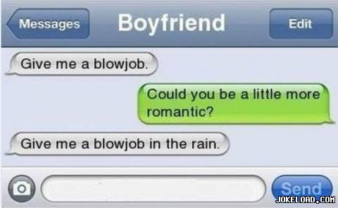 Blowjob in the rain
