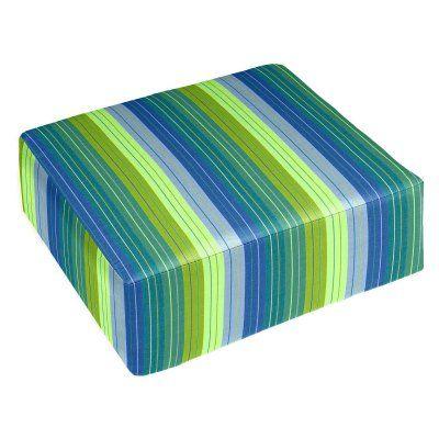Cushion Source 24 X 23 In Striped Sunbrella Ottoman Cushion 5bb2m